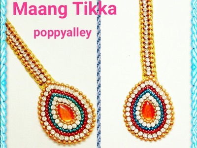 How to make silk thread maang tikka (papidi chain)at home