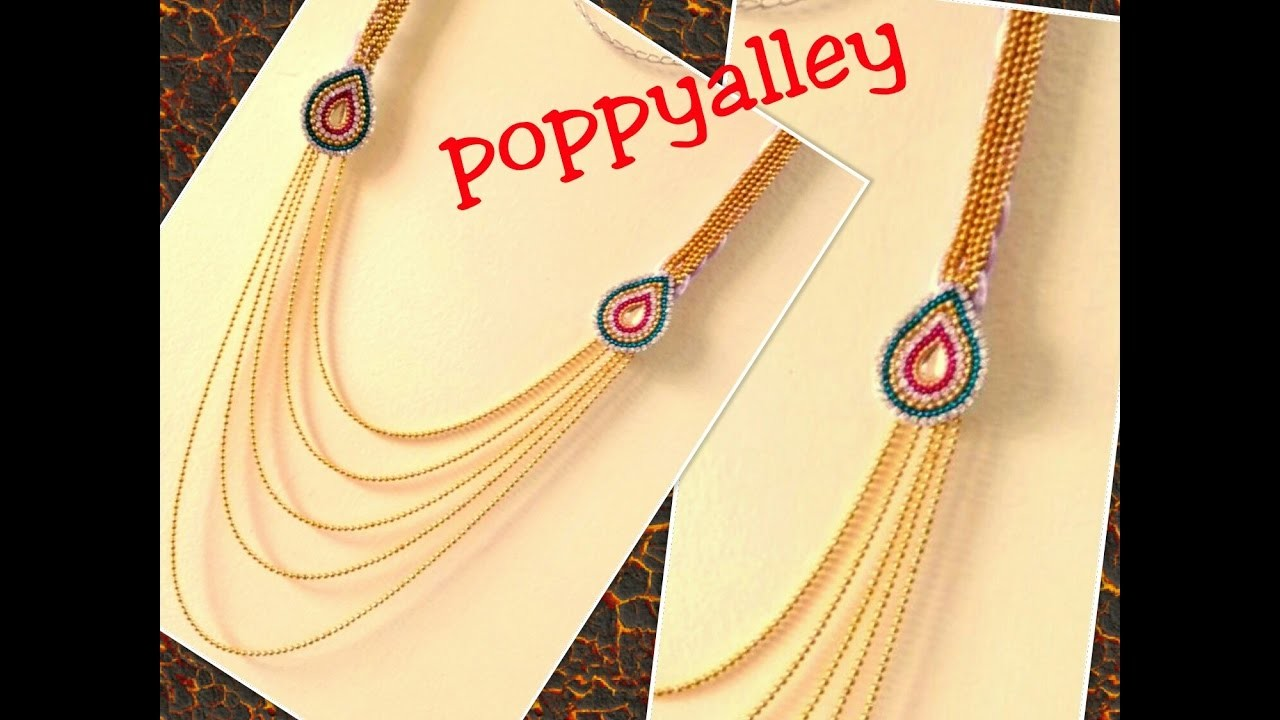 How to make silk thread step chain at home | silk thread jewellery