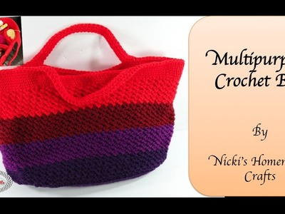 How to make the Multipurpose Crochet Bag
