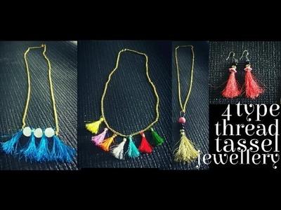 How to make thread tassel jewellery.earring.pendant.nacklace. silk tread jewellery DIY