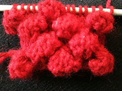 How to Make Woolen Bubbles On Sweater:DESIGN-14(HINDI)