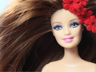 How to Reroot Natural Hair For Doll - Putting My Natural Hair To Barbie Doll