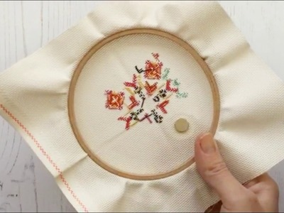 How to use a needle minder for cross stitch and embroidery