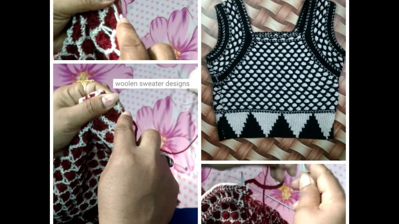Knitting Blouse for Ladies in Hindi - how to knit woolen designer blouse for women in hindi   part6