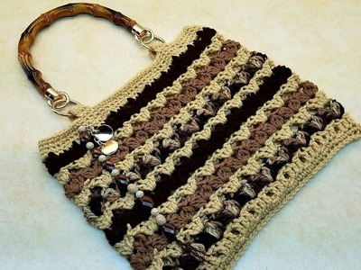 Learn How To #Crochet The Tiramisu HandBag Purse TUTORIAL #378