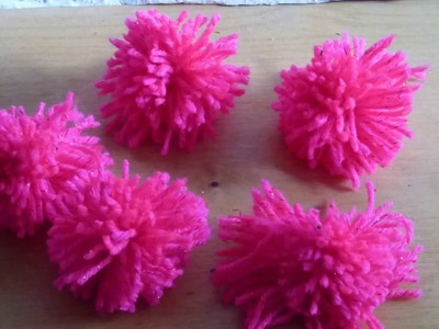 Life hacks.How to make multiple yarn pom poms using a chair.DIY creativ idea