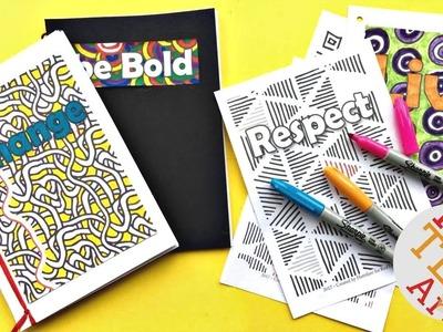 Mindful Journal DIY - How to Make a Journal (easy) - #beBoldforChange
