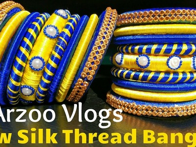 Newly Design Bangle set for Bride ????   How to make DIY silk Thread Bangles at home   Arzoo Vlogs