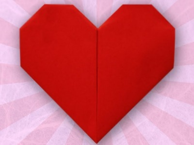 Origami heart - How to make paper heart - Folding Instruction for origami heart