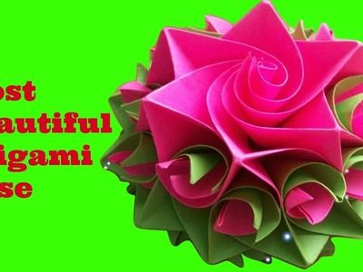 Origami rose - How to make origami rose step by step -The most beautiful origami rose in the world