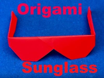 Origami Sunglasses - How to make Origami Sunglasses easily - Paper Sunglasses tutorial