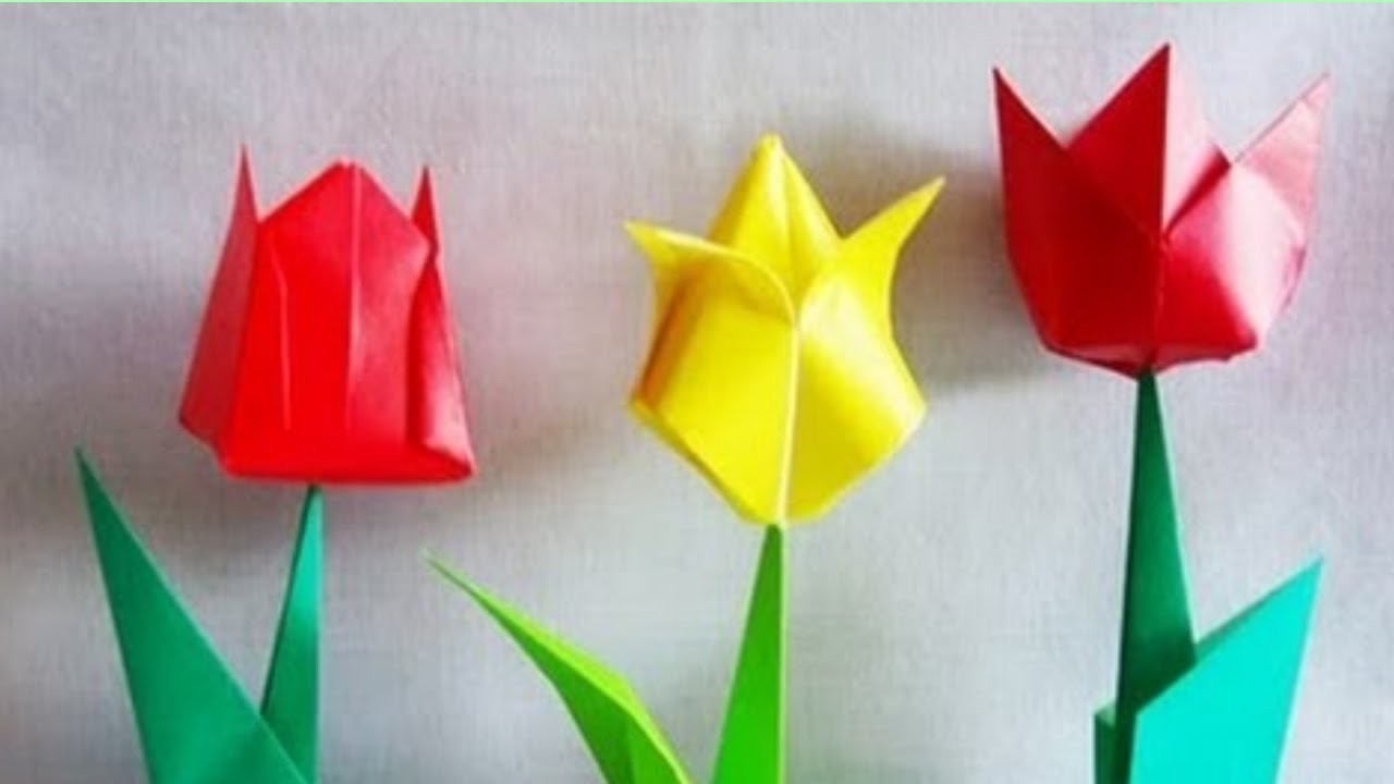 origami tulip how to make an origami tulip flower