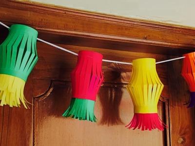 Paper Door hanging | paper lantern door decor - Arts and crafts