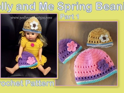 Part 1 - Dolly and Me Spring Beanies Crochet Pattern