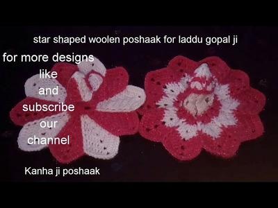"Part 2.2.how to make. Crochet.Star shaped.poshak.for.laddu gopal.kanha ji.-""hare Krishna ji"""