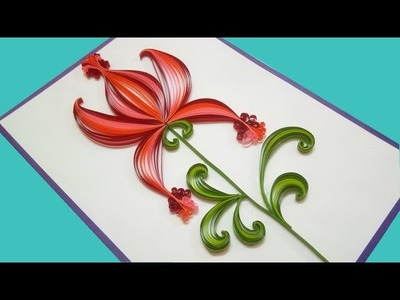 Quilling Made Easy  | How to make Beautiful Flower Design | Paper Quilling Art