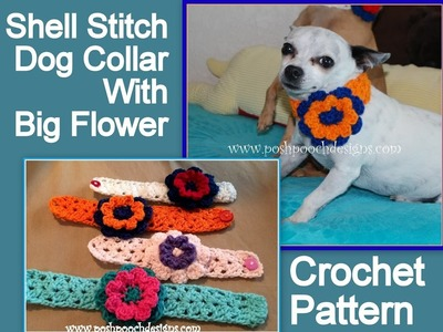 Shell Stitch Collar With A Big Flower Crochet Pattern