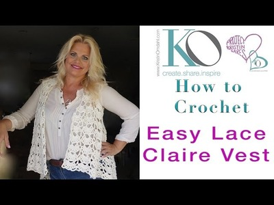 Tender Claire Crochet Vest Regular Speed Right Hand Crocheter Instructions