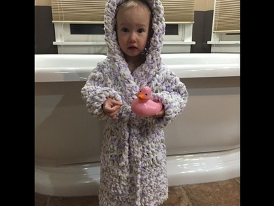 Toddler Bathrobe Size 2T.3T- Section 1: The Bottom (Free Crochet Pattern)