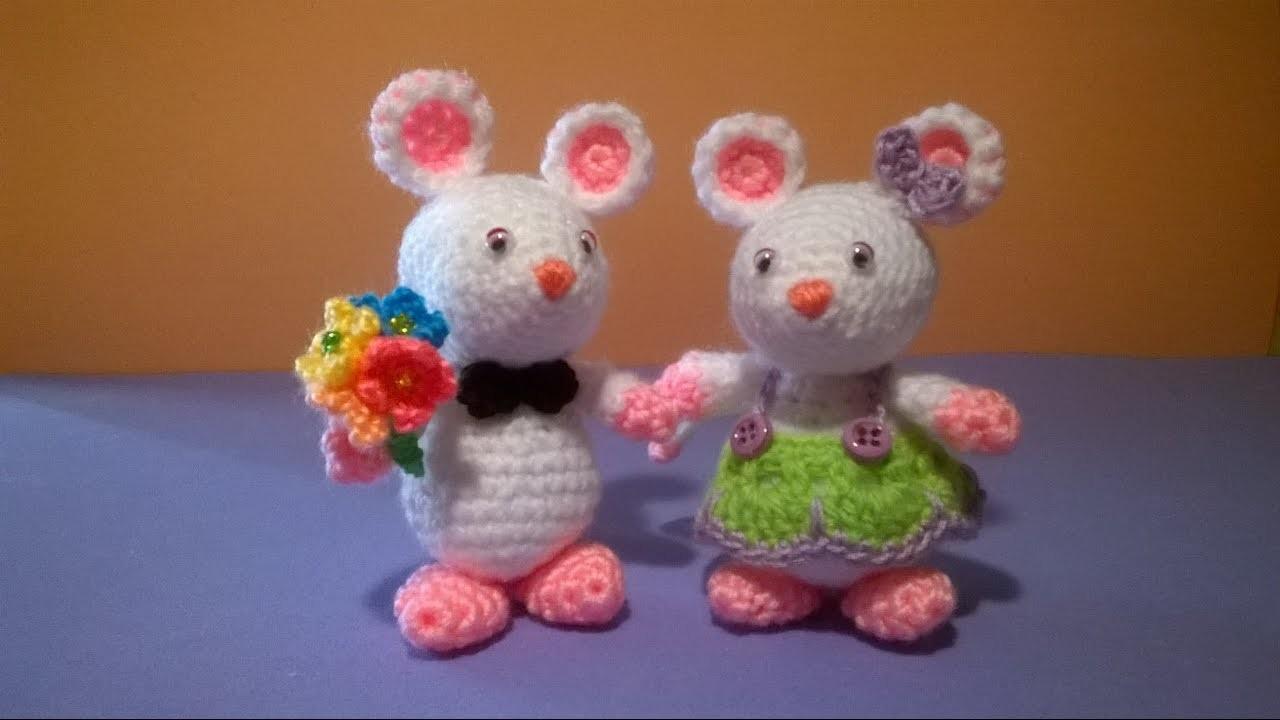 Topolini Uncinetto Amigurumi Tutorial Crochet Mouse Pattern