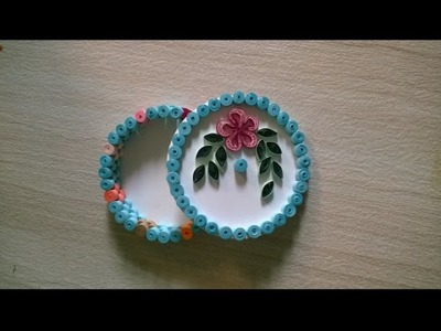 Tutorial #1 Quilling Round Design Box || How to make round box