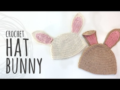 Tutorial Crochet Bunny Hat for Easter | All sizes!