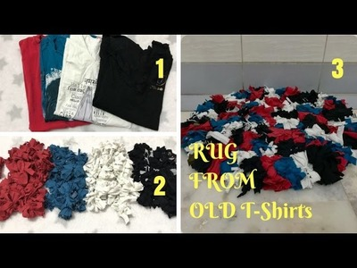 Watch How to Make a Rag Rug Using Old T-Shirts