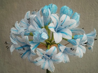 ABC TV | How To Make African Lily Paper Flowers From Crepe Paper - Craft Tutorial