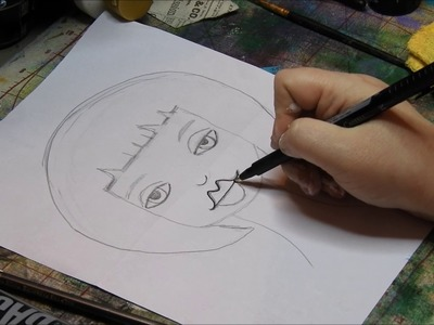 Beginner-How to Draw a Folk Art Face