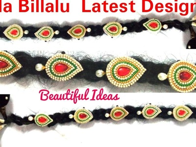 Braid Accessories; How to make  Jada Billalu Designs at home. Easy and Simple method.