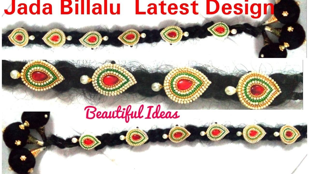 Braid Accessories; How to make  Jada Billalu Designs at home. Easy and Simple method.