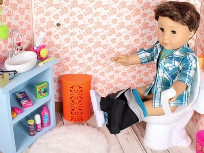 DIY DOLL POTTY | How to make American Girl Doll Toilet