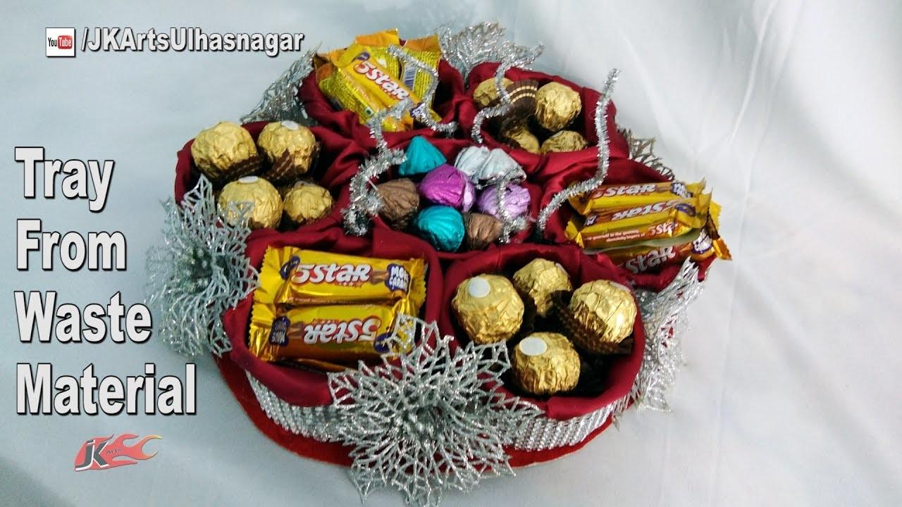 Gift Basket Making Materials : Diy gift basket from waste material how to make jk arts