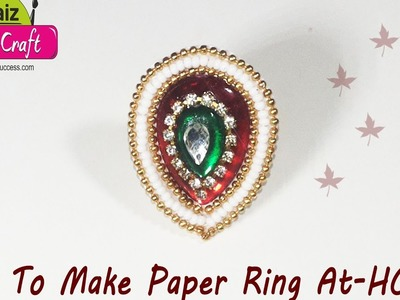 DIY : How to make designer party wear ring just 2 min art | raiz handicrft art |