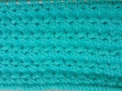 Easy Single Color Knitting Pattern No.47|Hindi