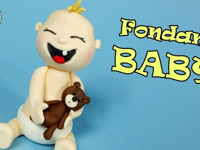 Fondant baby tutorial! How to make fondant baby cake topper