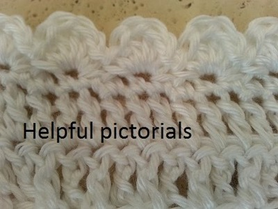 Helenmay Crochet helpful pictorials to go with Crochet Easy Elegant Baby Blanket video tuorial