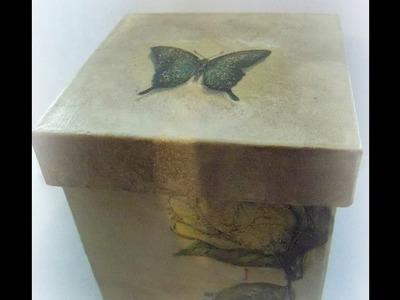 How make a decoupage box. DIY Decoupage box