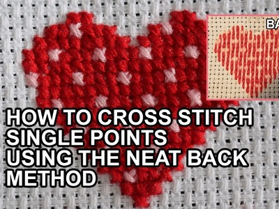 How to Cross Stitch Single Colours | Threads & Crafts