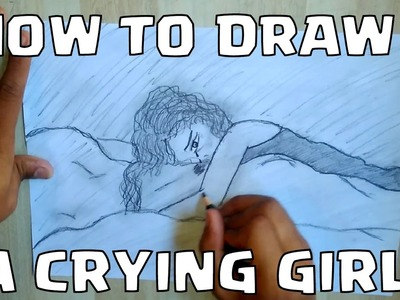 How to Draw A Crying Girl || Jeet Bhattacharya