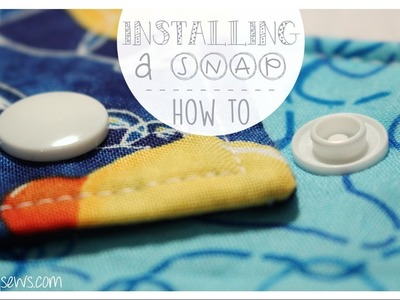 How to Install a Plastic Snap | Step By Step | Easy to Follow | Whitney Sews