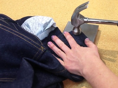How to Install Jeans Buttons and Metal Rivets