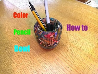 How to Make a Color Pencil Bowl!   Epoxy resin and color pencils.