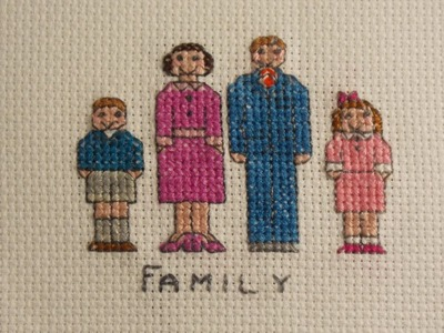 How to make a cross stitch family character