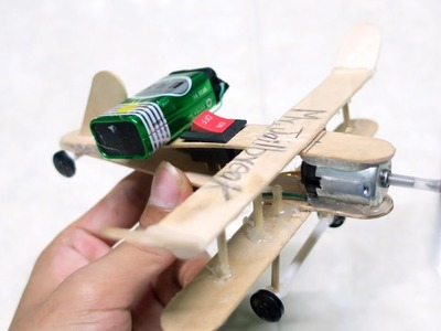 How to Make A DC Motor Plane - Toy Wooden Plane DIY