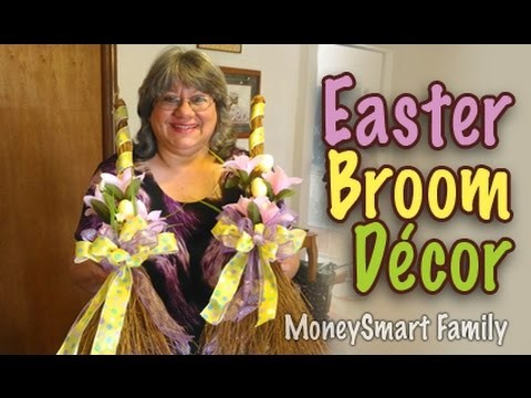 How to Make a Decorative Easter. Spring Broom for your Front Door - Easy Holiday Decor