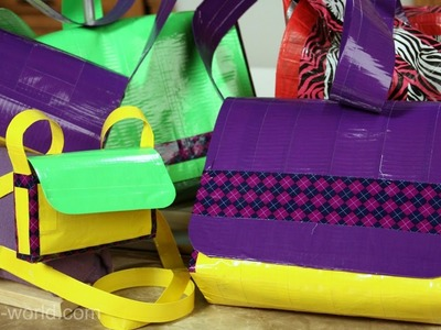 How to Make a Duct Tape Messenger Bag - Part 4 - Sophie's World