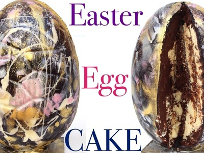 How to make a GALAXY 3D EASTER EGG CAKE!