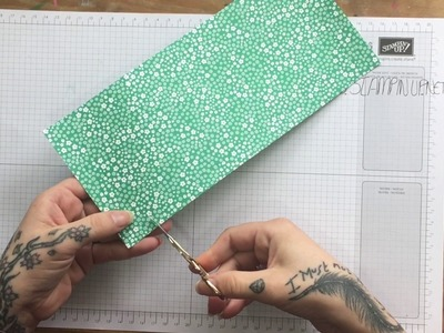 How to make a Midori style Traveler's Notebook folder with Stampin' Up! Designer Series Paper