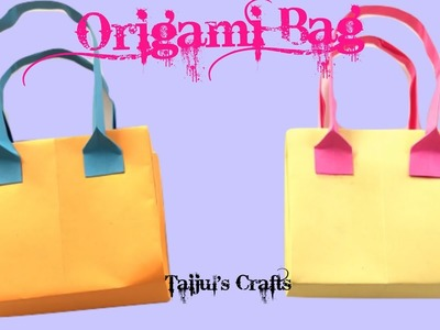 How To Make a Origami Bag - Paper Bag - Paper Purse Tutorial